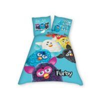 Furby - Parure housse de couette + taie bleu