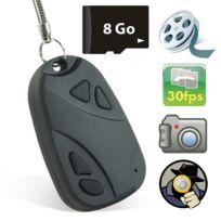Shopinnov - Camera espion Clé de voiture enregistreur Dvr 8Go