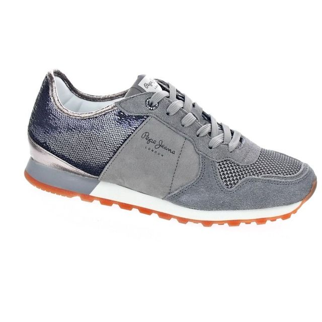 0c395fb8456 Pepe Jeans - Chaussures Pepe Jeans Femme Baskets basses modele Verona W New  Sequins