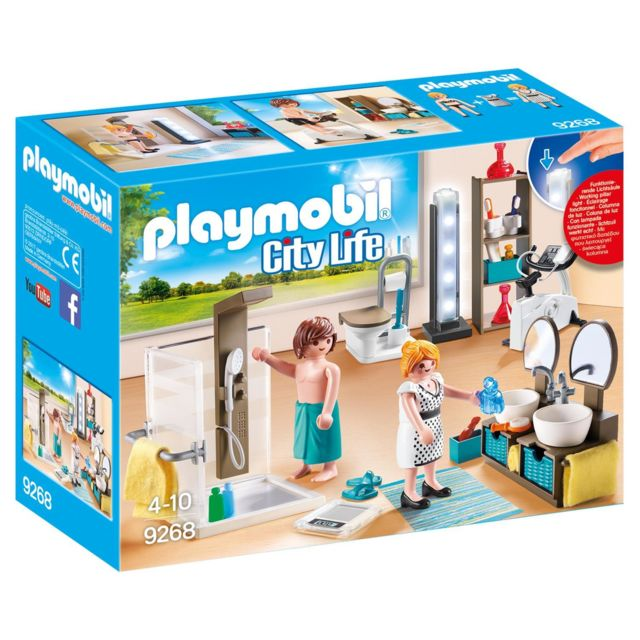 Playmobil - 9268 City Life - Salle de bain avec douche à l\'italienne ...