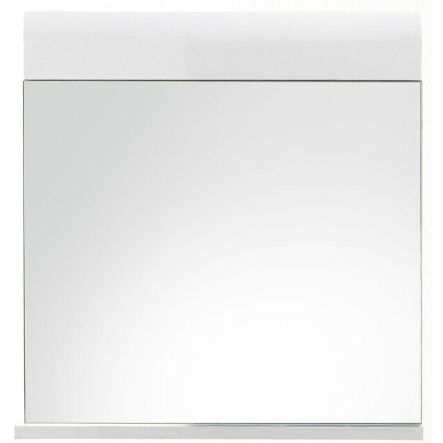 comforium miroir rectangulaire avec tablette pour salle. Black Bedroom Furniture Sets. Home Design Ideas