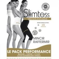Slimtess - Brassard / ceinture / Cycliste minceur - Le pack performance Coloris Noir Choisissez votre taille S