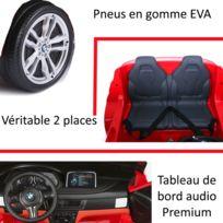 Voiture électrique enfant X6 en 2 places 12 volts noir pack luxe