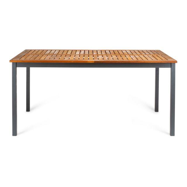 Table de Jardin Blackbird en Bois d\' eucalyptus Fsc et aluminium 160x100x74  cm