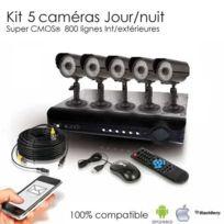 SecuriteGOODdeal - Kit de vidéosurveillance 5 caméras 600 lignes Cmos