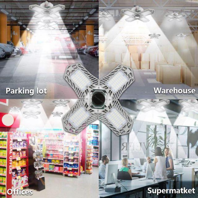 2x Ampoule D'atelier Led Allume 150W 15000ml Magasin Intérieur Extérieur