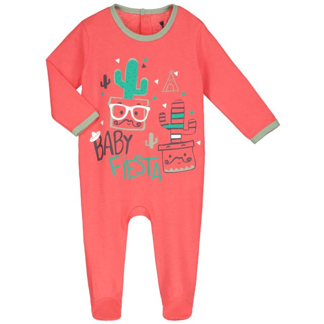 Petit Béguin - Pyjama bébé Baby Jungle - Couleurs - Ecru f4011bb81d3