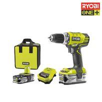Ryobi - Perceuse-visseuse 18V OnePlus - 2 batteries LithiumPlus 1.5Ah / 4.0Ah - chargeur - sac - Rcd18-LL99S