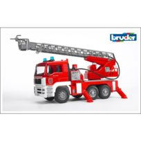 Bruder - 02771 Camion de pompiers Man avec pompe à eau