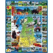 White Mountain Puzzles - Puzzle 1000 pièces - New Hampshire, Nouvelle-Angleterre, Usa