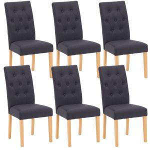 Altobuy oxford lot de 6 chaises noires pas cher for Lot 6 chaises noires