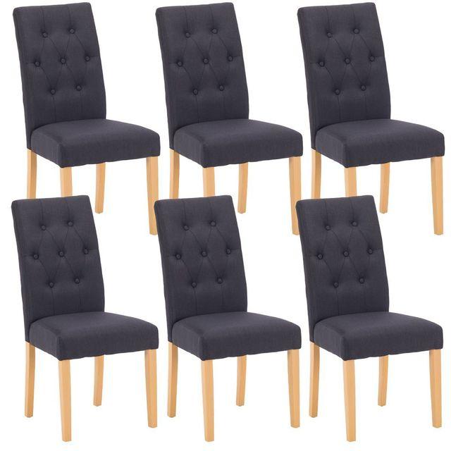 altobuy oxford lot de 6 chaises noires pas cher achat vente chaises rueducommerce. Black Bedroom Furniture Sets. Home Design Ideas