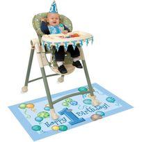 Unique Party - Décorations pour chaise haute anniversaire 1 an garçon