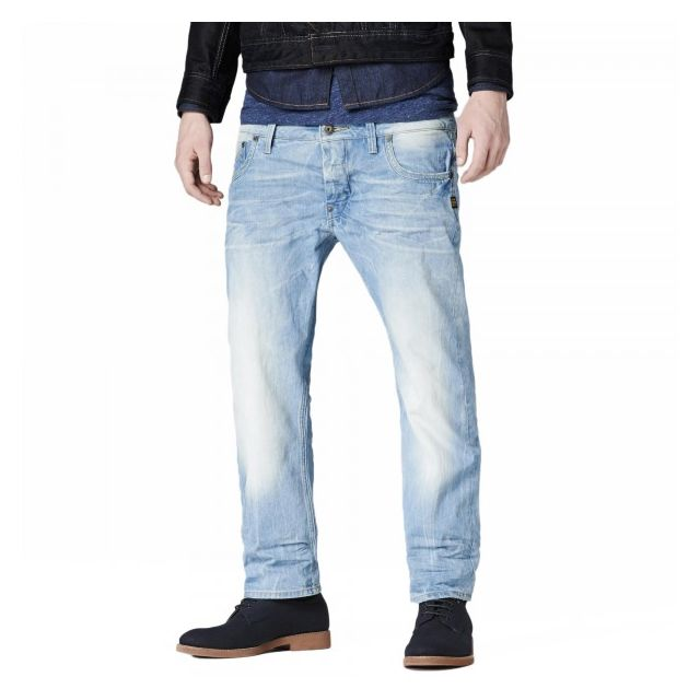 c239bd6e6cbde G-star Raw - Jean G-star Attacc Straight Quartz Denim Light Aged ...