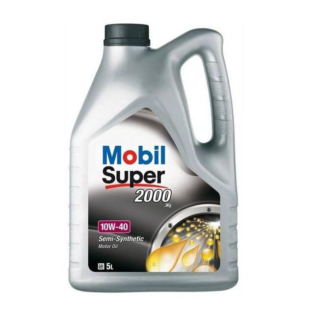 mobil huile moteur super 2000 x1 10w40 bidon de 5 l achat vente huiles moteurs 4t pas cher. Black Bedroom Furniture Sets. Home Design Ideas