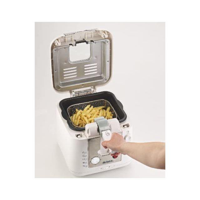 Ariete friteuse électrique de 2,5L 2000W argent blanc