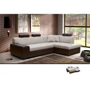 meublesline canap d 39 angle convertible 4 places terra beige marron avec appuie t tes beige. Black Bedroom Furniture Sets. Home Design Ideas