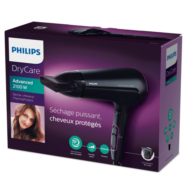 PHILIPS - Sèche-cheveux ThermoProtect HP8204-10