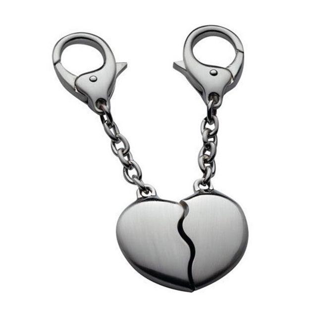 Touslescadeaux Porte clé coeur - 2 coeur à assembler