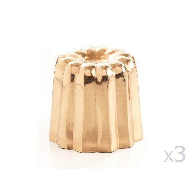 Baumalu Cannelés bordelais en cuivre D.7cm- lot de 3 pièces