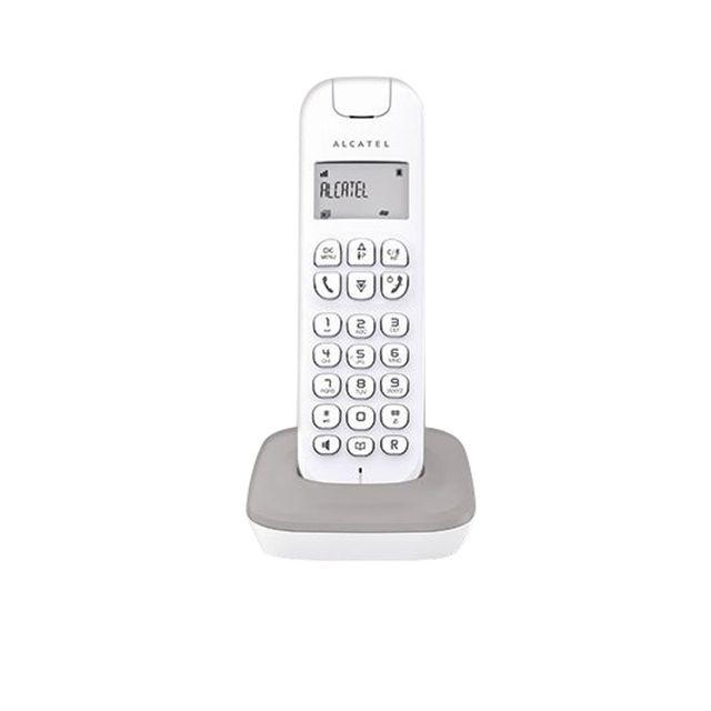 ALCATEL Téléphone fixe sans fil avec répondeur D185 Blanc/Gris - Fonction mains-libres- Répondeur intégré de 14 mn sur version Alcatel D185 Voice- Répertoire de 20 noms et numéros- Liste des 10 derniers appels entrants*