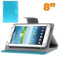 Yonis - Housse tablette 8 pouces universelle support etui protection Bleu ciel
