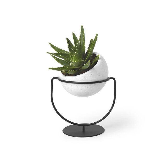 Umbra - Vase 2 en 1 en céramique et métal D.11.4cm Nesta Noir - 0cm x 0cm x 0cm
