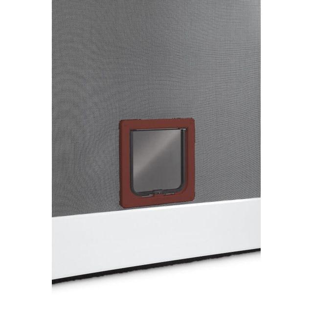 empasa chati re pour moustiquaire de porte battante ou baie vitr e marron l19 2xh20 cm pas. Black Bedroom Furniture Sets. Home Design Ideas