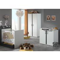 Modern Life - Lit bébé + tiroir + commode + table à langer