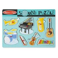 Melissa & Doug - Melissa And Doug - Puzzle son 8 pièces instruments