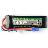 BEEZ2B - Batterie Lipo 2s 7.4v 1400mAh pour Vaterra 1/14 Cars