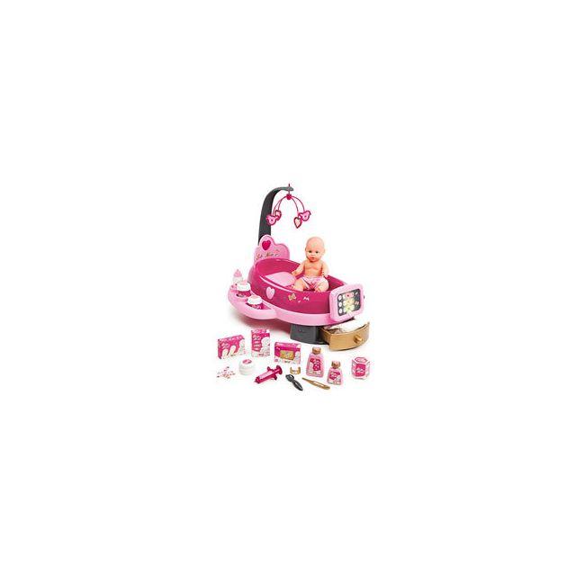 Smoby Nursery Electronique Baby Nurse + Poupon + 24 Accessoires Inclus