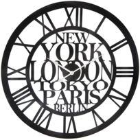 horloge murale paris new york tokyo achat horloge murale paris new york tokyo pas cher rue. Black Bedroom Furniture Sets. Home Design Ideas