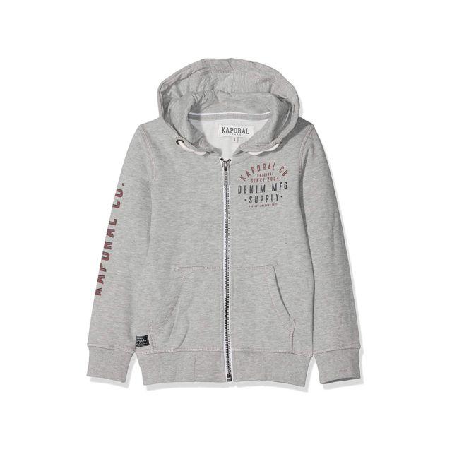 493180ac1d5d9 Kaporal 5 - Kaporal Sweat-Shirt à Capuche Garçon Mixa Gris - Taille - 12
