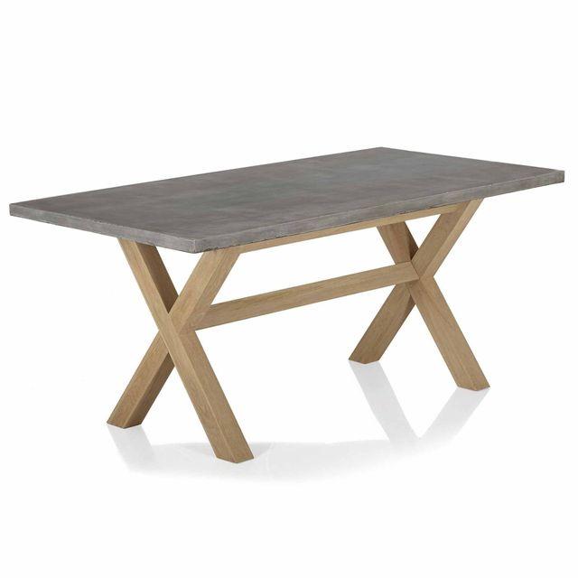 Table De Chêne Avec Aspect Repas En Béton Peker Alinéa Plateau wOkTluiPXZ