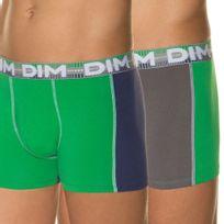Dim - Lot 2 Boxers Homme Coton 3D Flex Dynamic Vert électrique