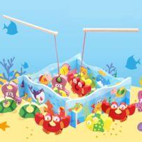 Wewoo - Jeu d'éveil Enfants Éducation précoce En Bois 3D Stéréo Montage De Pêche Jouets Éducatifs, Taille: 30 23 3 cm
