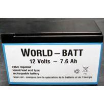 LBH - Batterie 12V rechargeable stationnaire 7.6 Ah 151x65x100