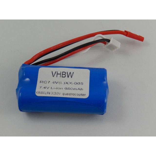 pour Drone de mod/élisme XinXun Quadrocopter UFO X30 V Intruder comme 43965. 7.4V vhbw Batterie Li-ION 850mAh