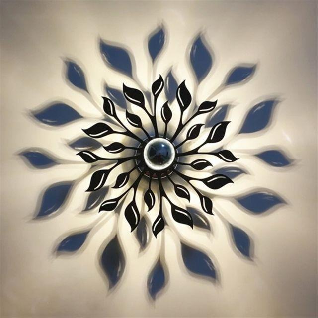 Wewoo Applique Murale Luminaire Noir Et Blanc Pour Chambre à