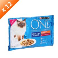 Purina - One Sachets pour chat sterilise 4 x 85g 12