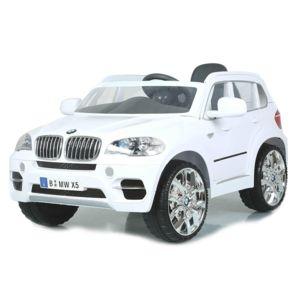 bmw voiture lectrique enfant b b x5 pour enfant 12v radio fm blanc pas cher achat vente. Black Bedroom Furniture Sets. Home Design Ideas