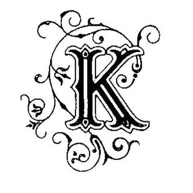 Graines Creatives - Tampon en bois Lettre K - Graine créative - pas ...