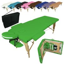 Linxor - Table De Massage Pliante 2 Zones en bois + Housse de Transport