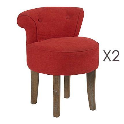 Lot de 2 fauteuils Crapaud Corail 48x44x56,5cm