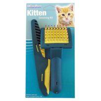 DIFAC - Kit de toilettage brosse et peigne pour chaton