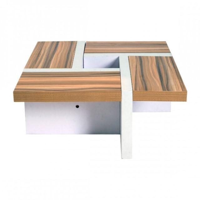 Basse Living Salon Bois Style Blanc De Brun Contemporain Salle Table gyYvmIbf76