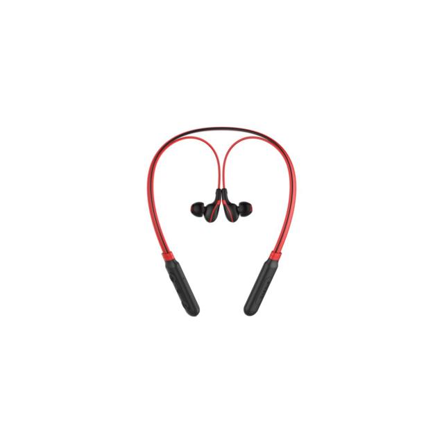 Auto-hightech Écouteurs intra-auriculaires avec Bluetooth et microphone - Noir et rouge