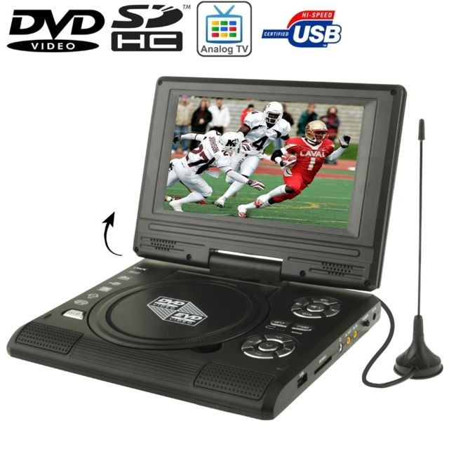 wewoo 7 5 pouces tft lcd portable noir dvd avec lecteur. Black Bedroom Furniture Sets. Home Design Ideas
