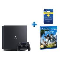 SONY - PS4 Pro - 1To + Carte Playstation Plus - Abonnement 3 mois + Horizon Zero Dawn - PS4